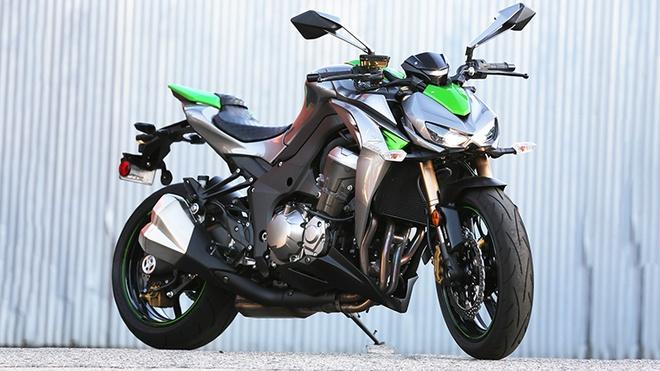 Xe con tay Kawasaki 110 phan khoi duoc ban chinh hang tai VN hinh anh 2