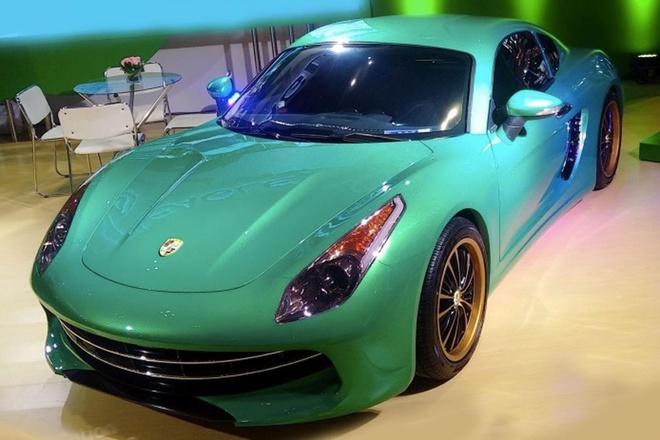 Nhung mau oto nhai trang tron cua cac hang xe Trung Quoc hinh anh 5 Nhìn vào kiểu dáng của mẫu xe 2 cửa Eagle đến từ Trung Quốc, nhiều người có thể nhầm lẫn với mẫu Porsche Cayman. Bên cạnh đó, phần đầu xe còn có sự vay mượn của siêu xe Ferrari F12 Berlinettar.
