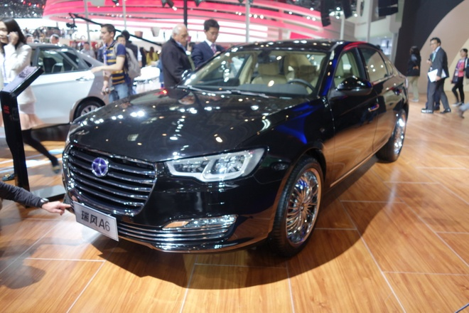 Nhung mau oto nhai trang tron cua cac hang xe Trung Quoc hinh anh 6 JAV A6 giống ngay từ tên gọi với mẫu sedan Audi A6.