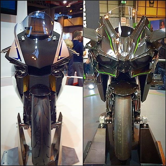 So sanh sieu moto Yamaha YZF-R1 va Kawasaki Ninja H2 hinh anh