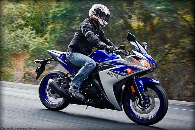 Yamaha YZF-R3 mang kiểu dáng giống người anh em YZF-R25. Ảnh: Yamaha.