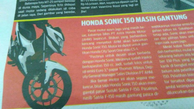 Honda ra xe 150 phan khoi canh tranh Suzuki Satria FU 150? hinh anh