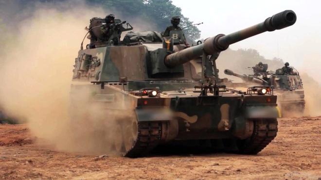 Samsung lon den co nao? hinh anh 3 Pháo tự hành K9 Thunder của Hàn Quốc.