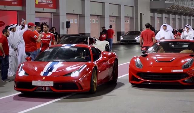 Dai gia Trung Dong mang sieu xe Ferrari vao duong dua so ke hinh anh