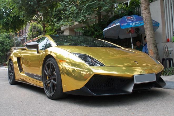Sieu xe Lamborghini Gallardo vang bong duy nhat tai Ha Noi hinh anh