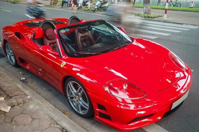 Sieu xe mui tran Ferrari F360 Spider do tai Ha Noi hinh anh