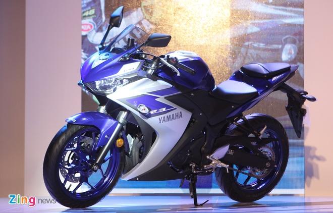 Yamaha Viet Nam trinh lang R3 gia 150 trieu va xe ga NM-X hinh anh 1 YZF-R3 sở hữu thiết kế thể thao.