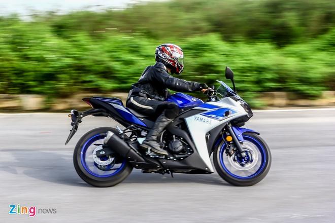 Chay thu Yamaha YZF-R3: Sportbike phu hop cho nai non tay hinh anh 5 Xe vận hành ổn định ở những giải tốc độ khác nhau, kể cả khi ôm cua gắt. Ảnh: Ngọc Tuấn