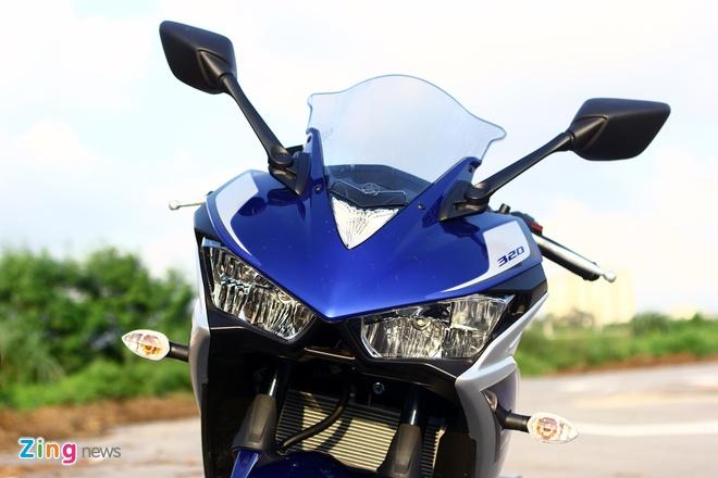 Chay thu Yamaha YZF-R3: Sportbike phu hop cho nai non tay hinh anh 3 Thiết kế đầu xe dữ dằn với cụm đèn pha góc cạnh. Ảnh: Ngọc Tuấn
