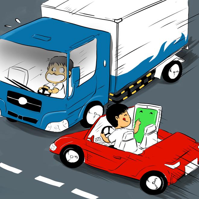 Tranh vui: 'Khong nhan tin khi lai xe' hinh anh