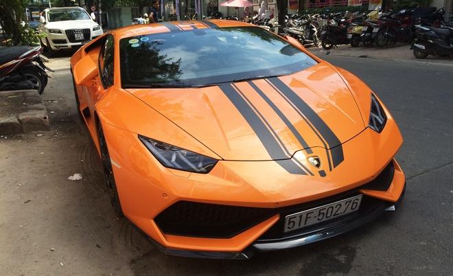 Lamborghini Huracan mau cam doc nhat Viet Nam them do choi hinh anh 4