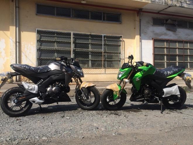 Xe con tay Kawasaki Z125 - doi thu Honda MSX ve Viet Nam hinh anh 1