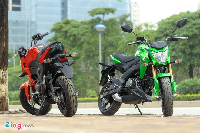 Chi tiet xe con tay Kawasaki Z125 Pro tai Ha Noi hinh anh 3