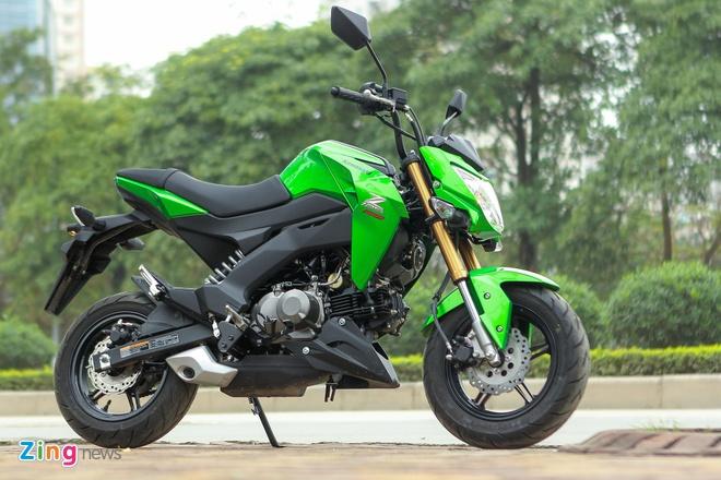 Chi tiet xe con tay Kawasaki Z125 Pro tai Ha Noi hinh anh 1