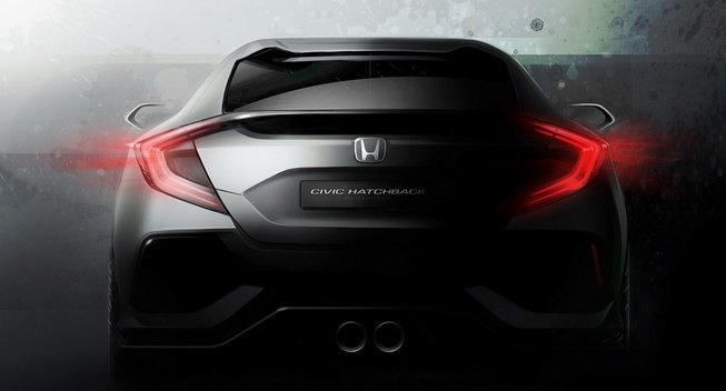 Honda he mo thong tin Civic hatchback moi, ra mat thang 3 hinh anh