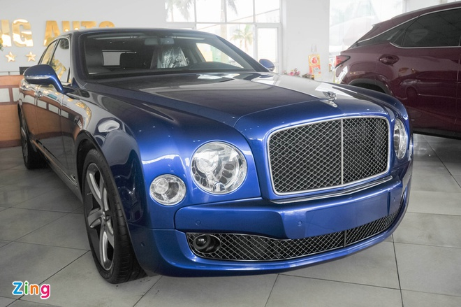 Xe sieu sang Bentley Mulsanne Speed mau xanh doc nhat VN hinh anh 1