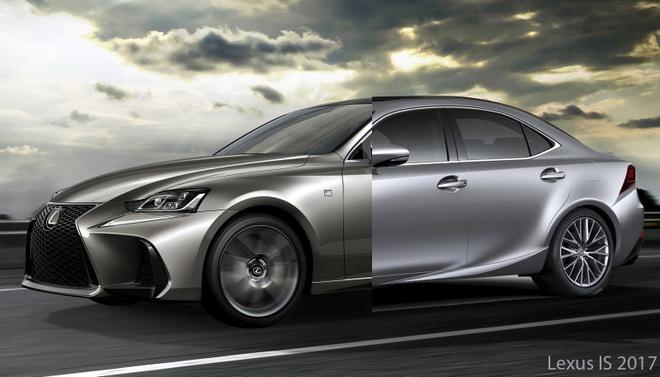 So sanh Lexus IS 2017 va phien ban cu hinh anh