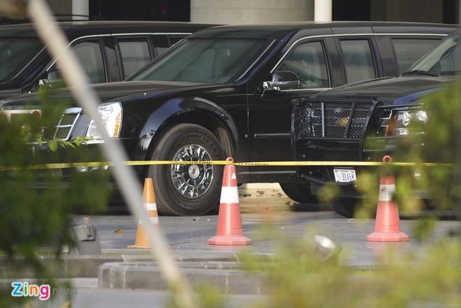 Cadillac One bao ve Tong thong Obama co mat tai Ha Noi hinh anh