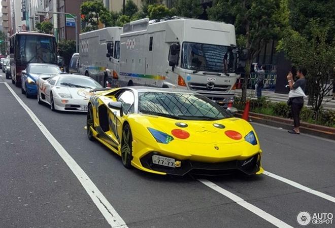 Lamborghini Aventador phong cach Pokemon tai Nhat Ban hinh anh