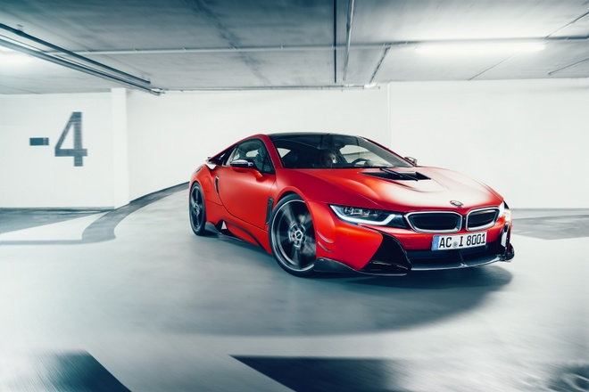 Xe the thao BMW i8 do than xe la lam hinh anh