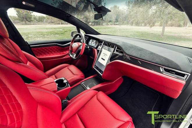 Xe dien Tesla Model X noi that Bentley rao gia 180.000 USD hinh anh 4