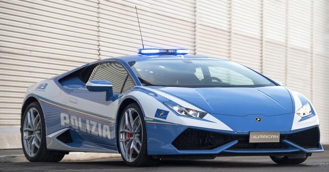 sieu xe Lamborghini Huracan canh sat Italy anh 1