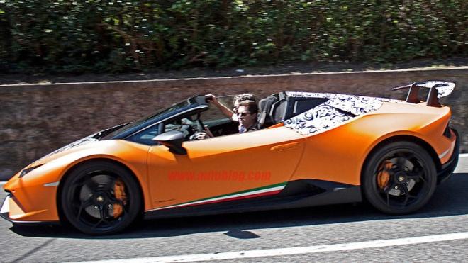 Lamborghini Huracan mui tran ban hieu nang cao xuat hien tren pho hinh anh