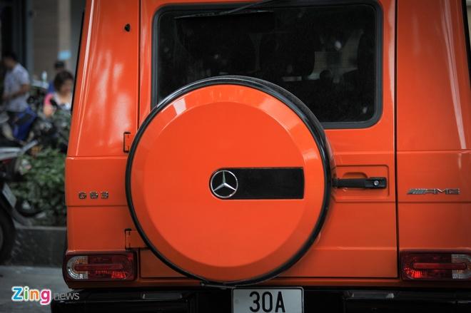 Mercedes G63 AMG mau cam noi bat tren duong pho Ha Noi hinh anh 5