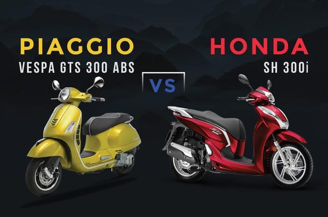Vespa GTS 300 ABS lay gi canh tranh Honda SH 300i? hinh anh