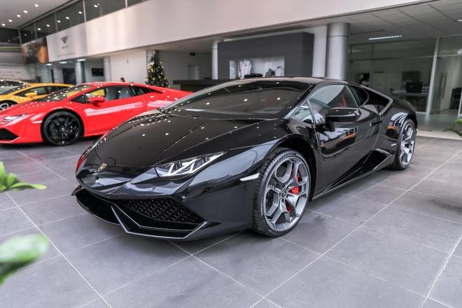 Lamborghini Huracan LP610-4 mau den chinh hang dau tien tai VN hinh anh