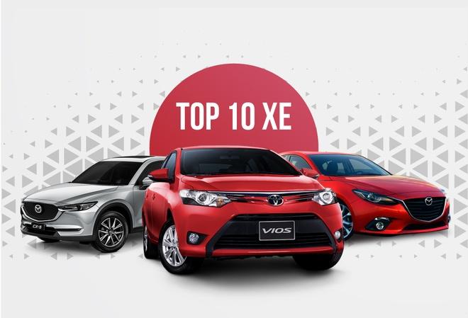 10 xe ban chay thang 1/2018 o VN: Vios va Mazda 3 chiem phan lon hinh anh