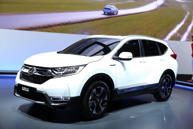 Anh thuc te Honda CR-V ban hybrid tai chau Au hinh anh