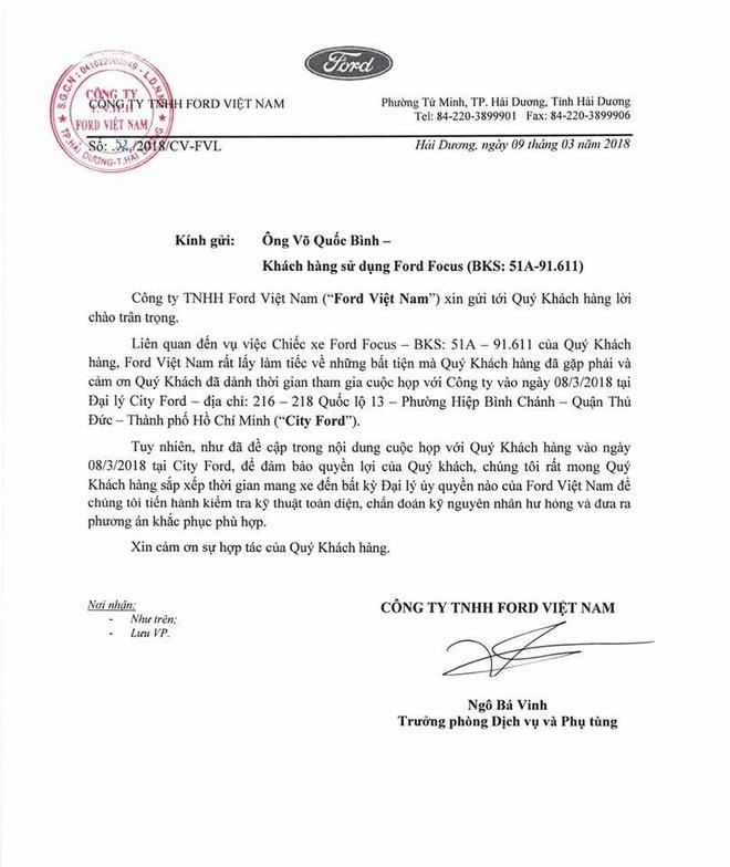Ford Viet Nam chua nhan duoc thong tin vu kien tu toa an hinh anh 2