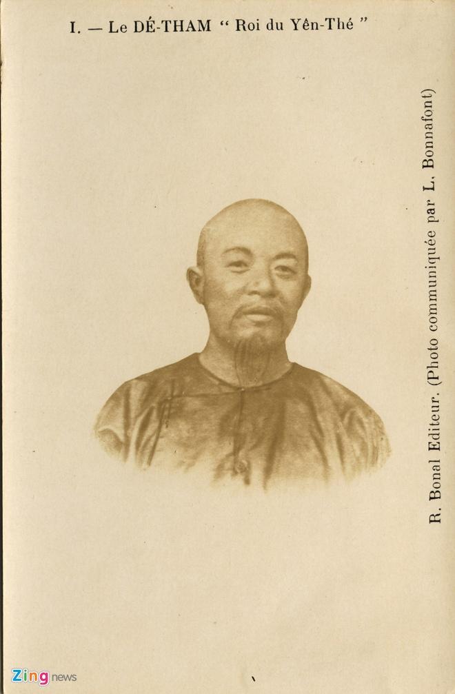 Nguoi Phap luu giu anh doc ve 'Hum thieng Yen The' hinh anh 9 Bưu ảnh hiếm chân dung Hoàng Hoa Thám.