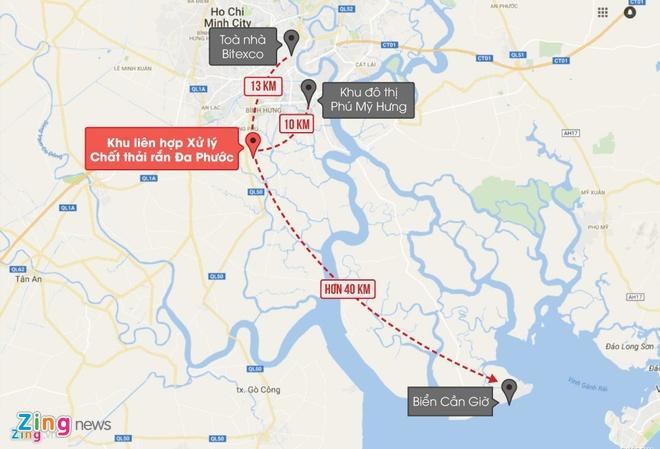 So TN&MT kiem tra tinh trang mui hoi quanh bai rac Da Phuoc hinh anh 1