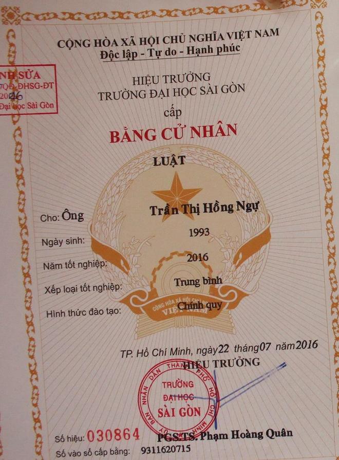 'DH Sai Gon phai cap lai bang nham gioi tinh cho sinh vien' hinh anh 1