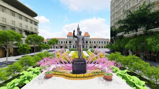 Phoi canh duong hoa Nguyen Hue xuan Dinh Dau 2017 hinh anh 1