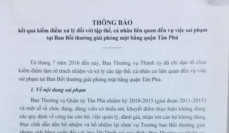 TP.HCM ky luat hang loat nguyen lanh dao quan Tan Phu hinh anh 1