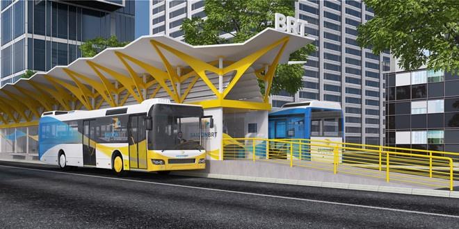 Dung trien khai tuyen buyt nhanh BRT so 1 o Sai Gon hinh anh
