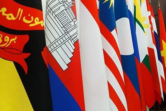 ASEAN be tac tuyen bo chung cua cac ngoai truong hinh anh