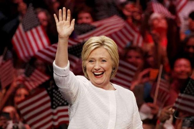 Ba Clinton chinh thuc tro thanh ung vien tong thong My hinh anh