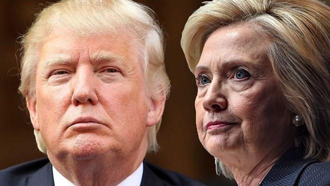 Clinton vuon len dan Donald Trump 15 diem hinh anh