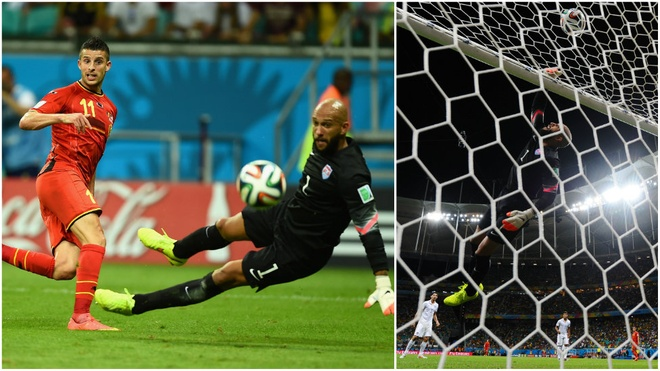 Records. A haul of 15 saves in his side's extra-time defeat to Belgium earns Tim Howard a World Cup record and a phone call from President Barack Obama who says the goalkeeper will need to disguise himself, such is his new-found popularity in the US