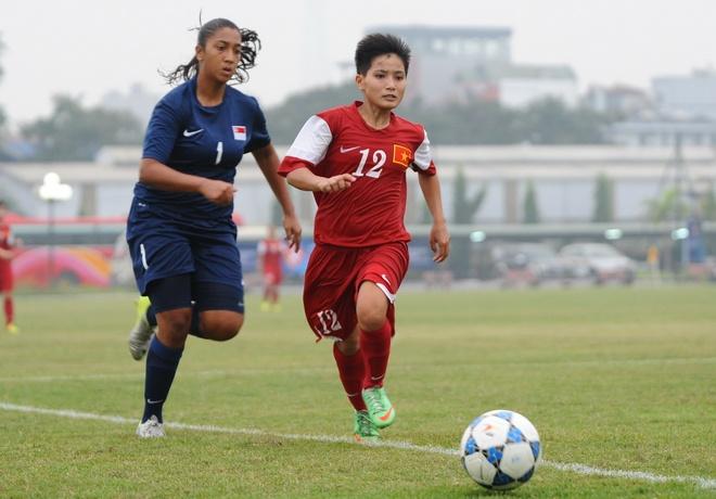 U19 nu Viet Nam thang dam 11-0 truoc U19 Singapore hinh anh