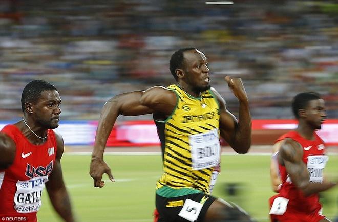 Usain Bolt vao chung ket noi dung 200 m hinh anh