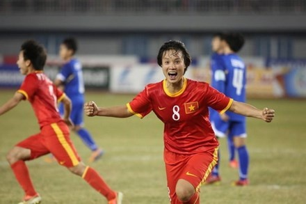 Tuyen nu Viet Nam thang Myanmar 4-2 o Vong loai Olympic hinh anh