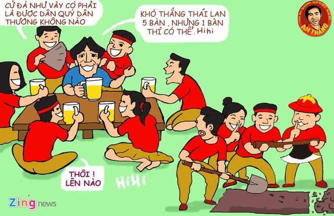Hi hoa: Hoc tro khoc tien biet vo si Miura hinh anh 10 Bức 10 : Sau trấu với IRAQ thì hlv Miura phần nào đã lấy lại được  niềm tin của NHM. Đã không còn những phá bóng chặt chém của một kẻ tiều phu trước kia . Và tất cả đều háo hức cuộc tiếp đón với các cầu thủ Thái Lan.