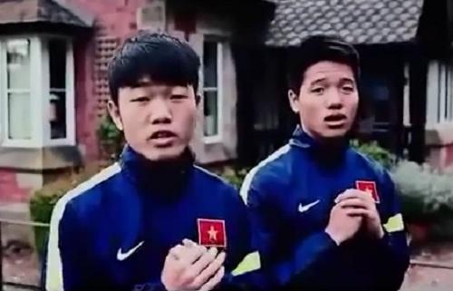Cau thu U23 Viet Nam chuc Tet nguoi ham mo tu Qatar hinh anh