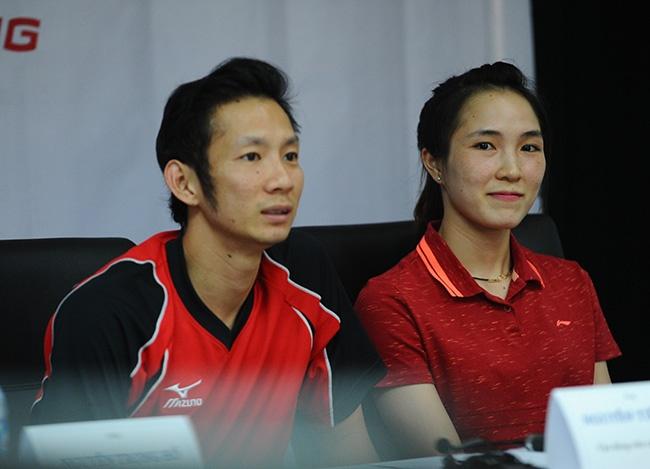 Tien Minh tu tin du Olympic cung ban gai hinh anh
