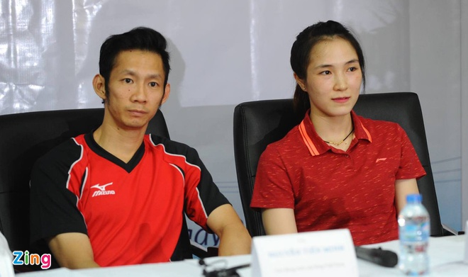 Tien Minh tu tin du Olympic cung ban gai hinh anh 1